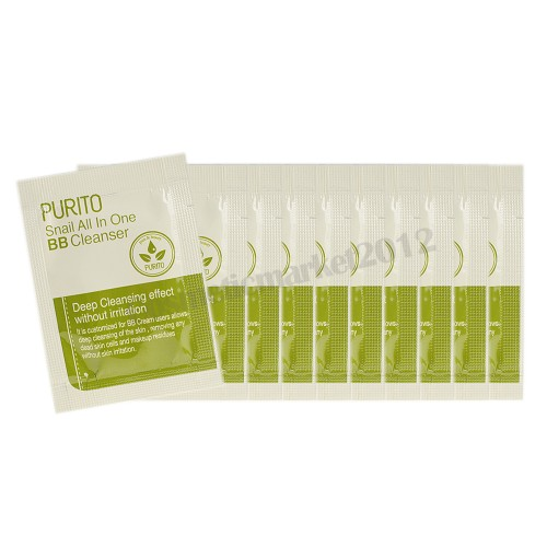 PURITO Snail All In One BB Cleanser sample 10pcs (weight : 40g)