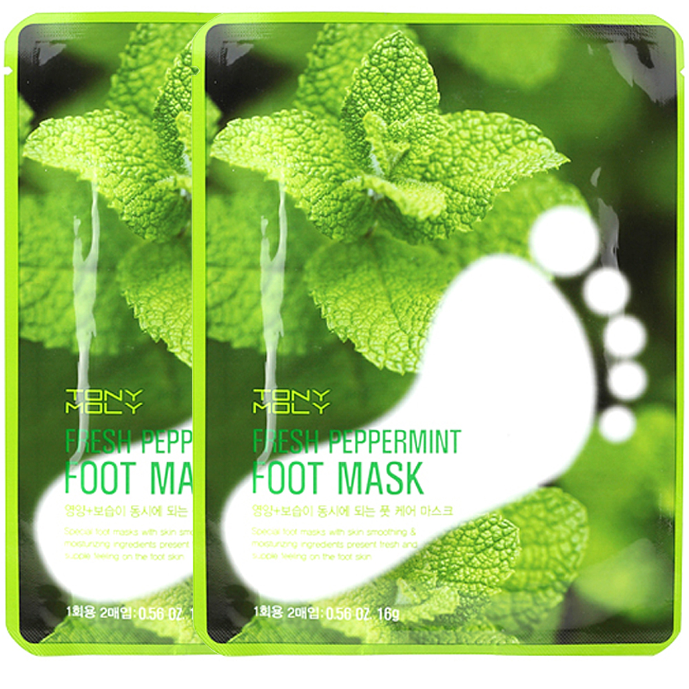 TONYMOLY Fresh Peppermint Foot Mask 16g 1+1 2pcs (weight : 80g)