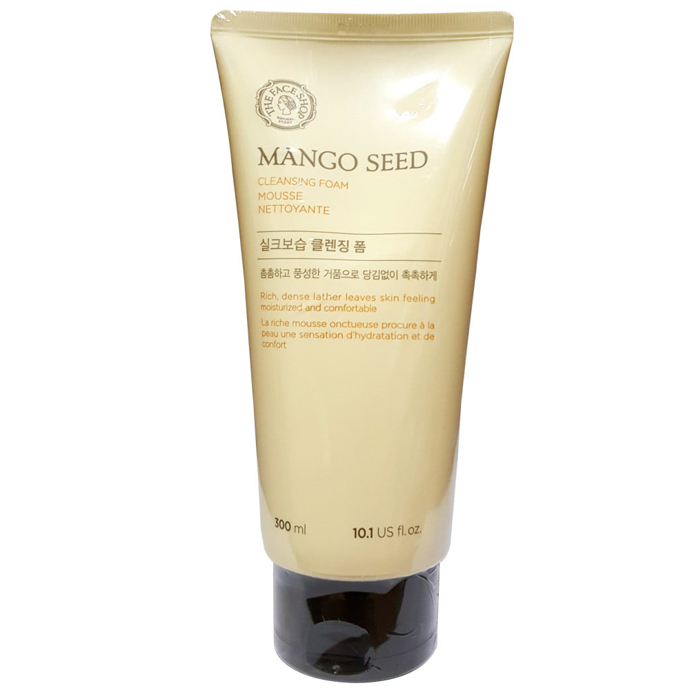 THE FACE SHOP Mango Seed Silk moisturizing Cleansing Foam 300ml (weight : 400g)