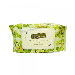 THE FACE SHOP Herb Day Cleansing Tissue 70 wipes (weight : 500g)