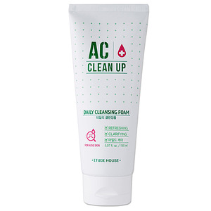 Etude House AC Clean Up Daily Cleansing Foam 150ml (weight : 200g)