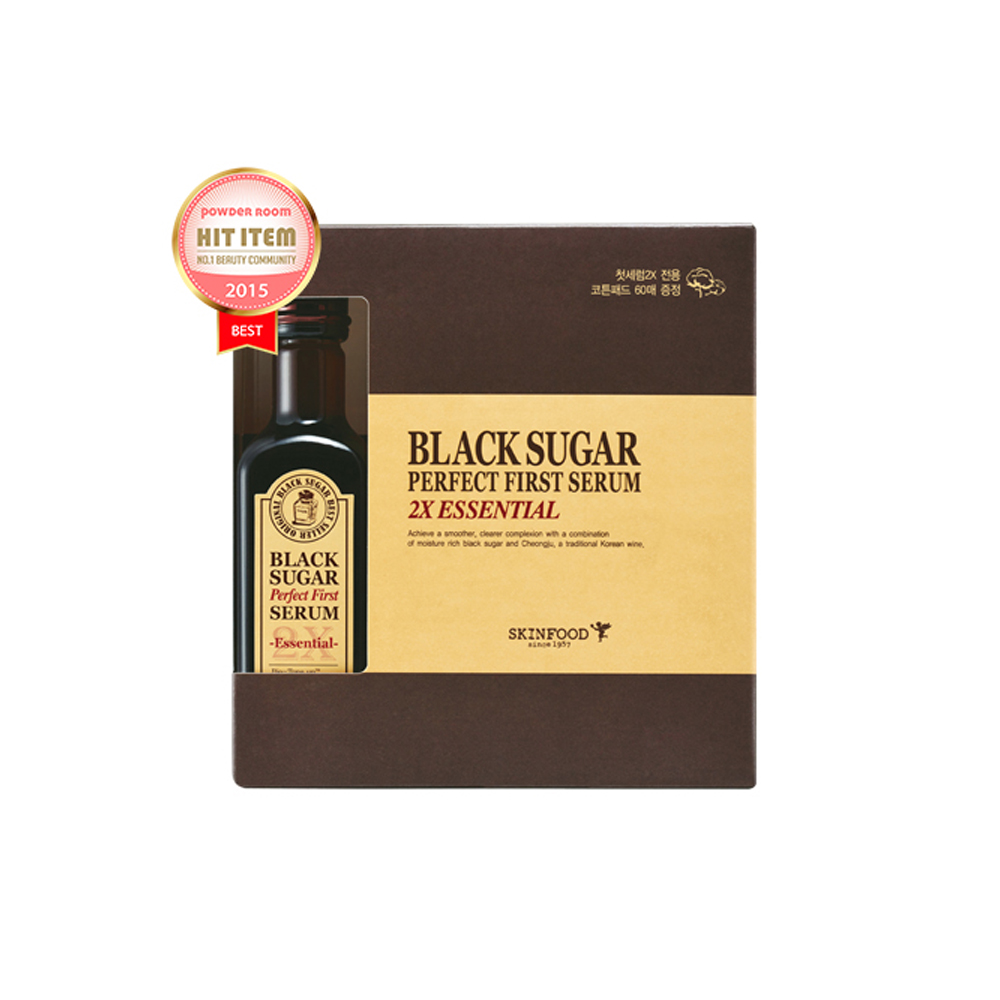 SKINFOOD-Skin Food Black Sugar Perfect First Serum 2X essential 120ml (weight : 550g)