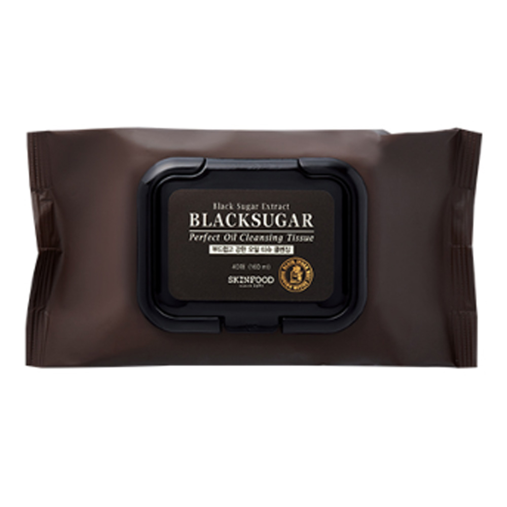 SKINFOOD-Skin Food Black Sugar Perfect Oil Cleansing Tissue 40ea (weight : 270g)