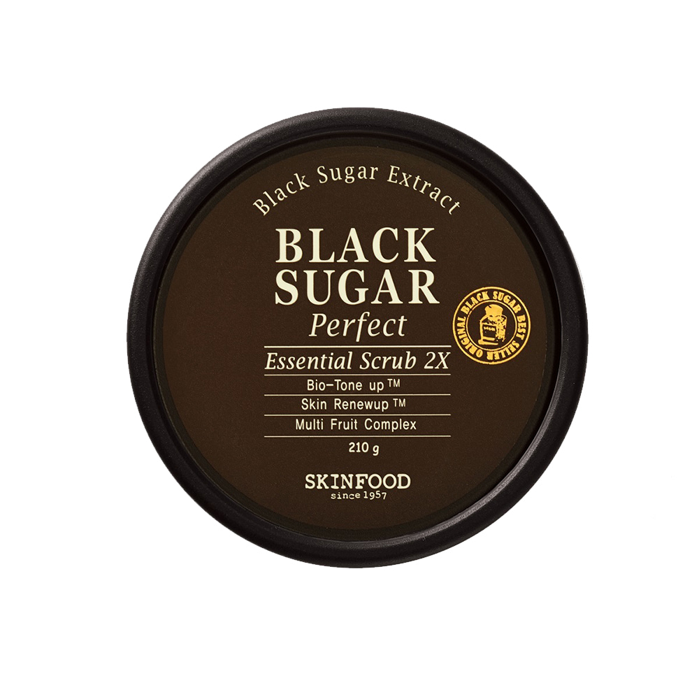 SKINFOOD-Skin Food Black Sugar Perfect Essential Scrub 2X (210g) (weight : 310g)