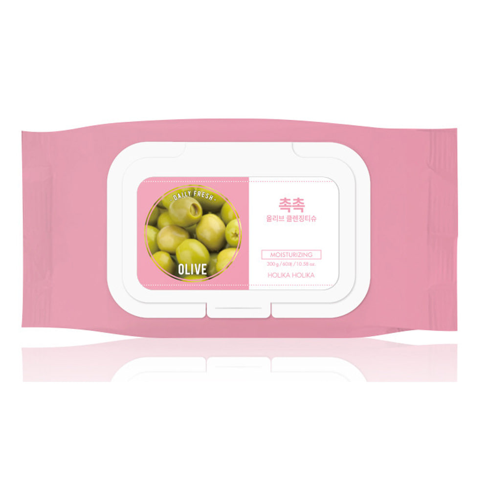 Holika Holika Daily Fresh Olive Cleansing Tissue 60pcs (weight : 470g)