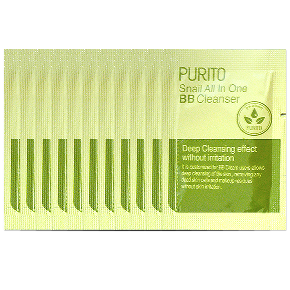 PURITO Snail All In One BB Cleanser sample 10pcs
