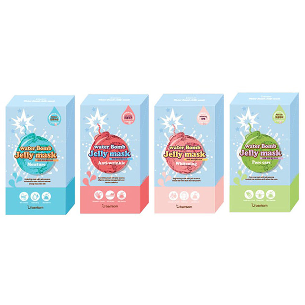 Berrisom Water Bomb Jelly Mask 33ml * 5pcs
