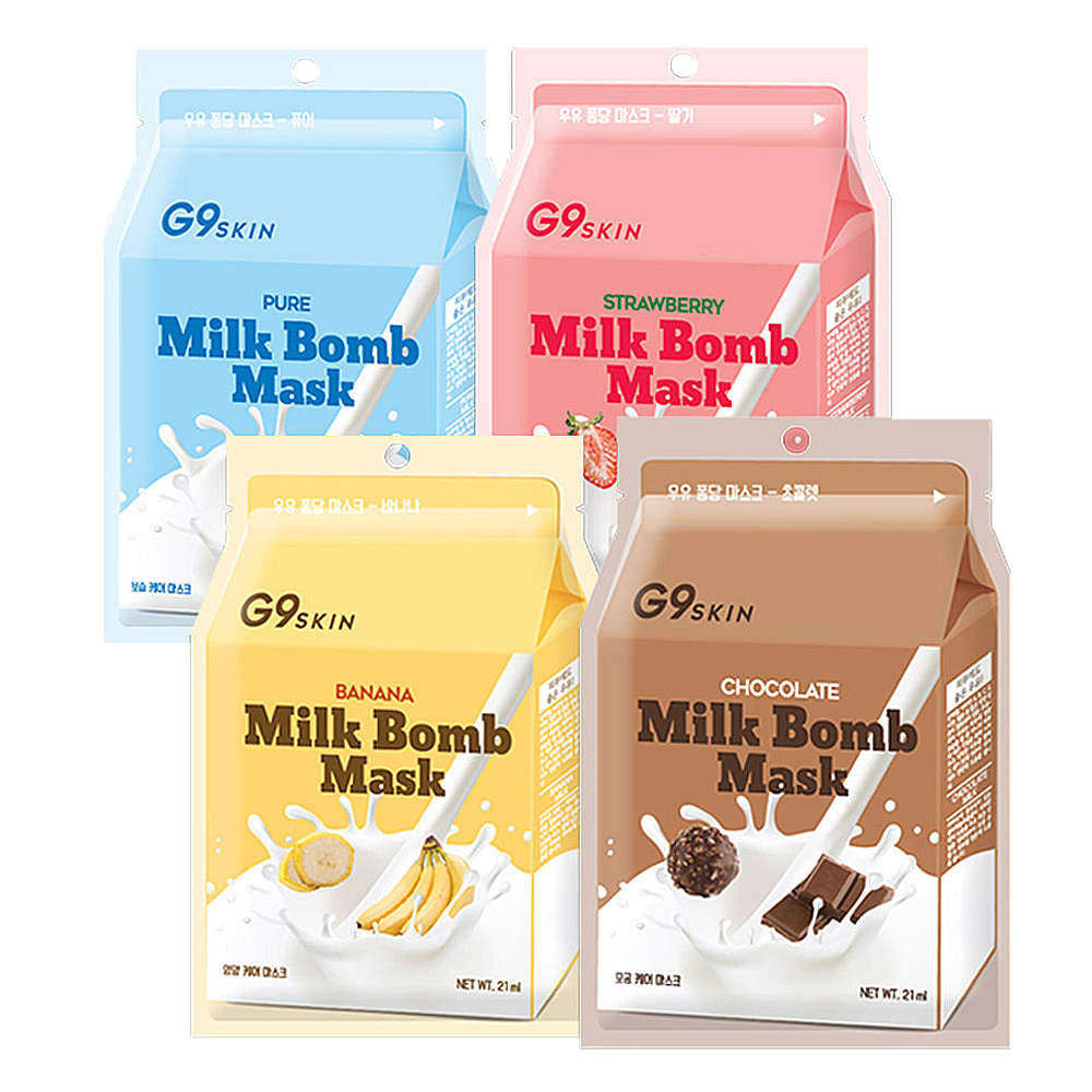 G9 SKIN MILK BOMB MASK 21ml * 5pcs