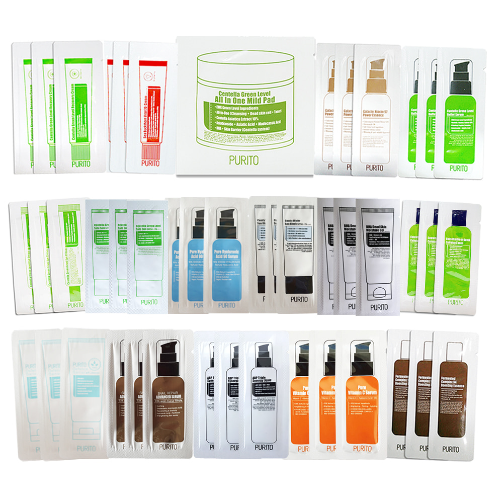 PURITO Sample Kit (16 types of Samples ) Total 46ea